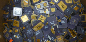 oro di recupero dalla tecnologia
